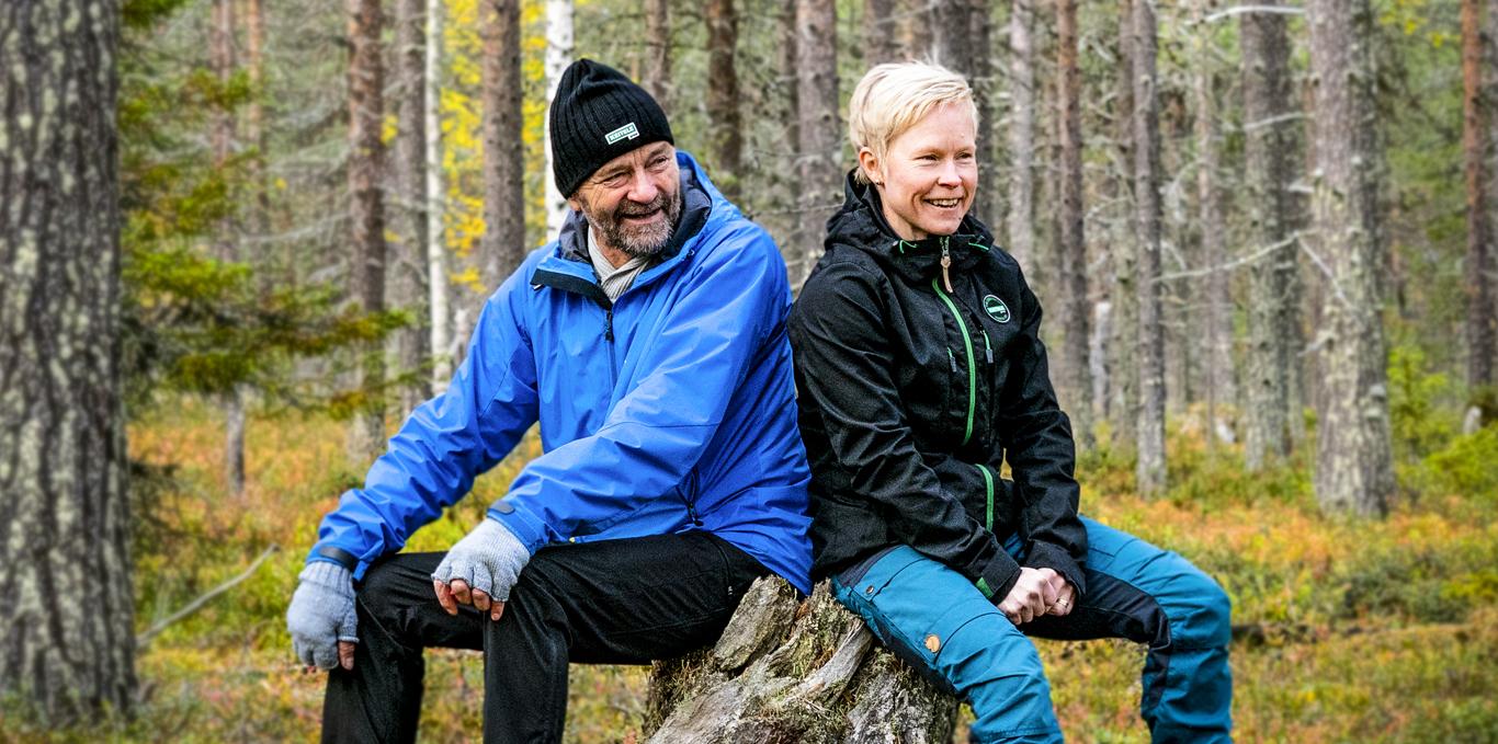 Metsänomistaja ja Annika Vaara